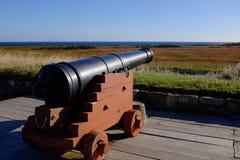Cannone alla fortezza di Louisbourg Immagine Stock