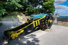 Cannone alla fortezza Koenigstein in Germania fotografie stock