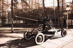Cannone antiaereo immagine stock libera da diritti