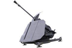 cannone antiaereo del Unico barilotto Fotografia Stock Libera da Diritti