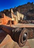 Cannone antico alla fortificazione del mehrangarh, Ragiastan Fotografie Stock