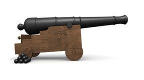 Cannone antico delle navi Fotografie Stock