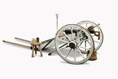 Cannone bianco e nero Immagine Stock