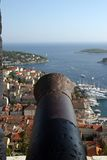 cannone - castello Croatia dell'isola Fotografie Stock Libere da Diritti