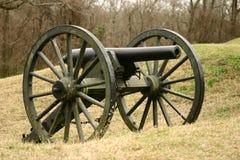 Cannone confederato di guerra civile Fotografie Stock Libere da Diritti
