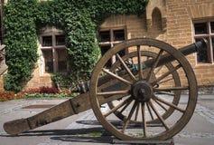 Cannone dal castello di Hohenzollern Fotografia Stock