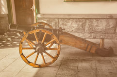 Cannone del campo Immagini Stock