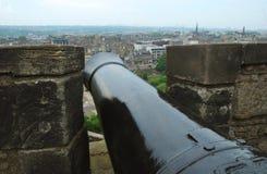 Cannone del castello di Edimburgo Immagine Stock Libera da Diritti