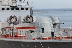 Cannone della nave da guerra fotografie stock libere da diritti