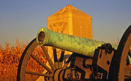 Cannone di guerra civile fotografia stock
