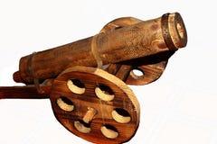 Cannone di legno Fotografie Stock Libere da Diritti