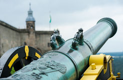 Cannone in fortezza Koenigstein, Germania Fotografia Stock Libera da Diritti
