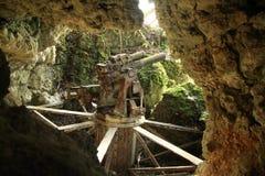 Cannone giapponese da WWII immagini stock