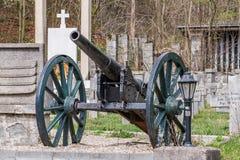 Cannone guerra- del primo mondo vecchio Fotografia Stock