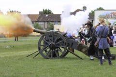 Cannone inglese della guerra civile Fotografie Stock