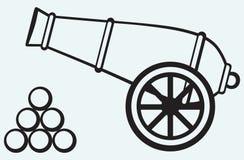 Cannone medievale Fotografia Stock Libera da Diritti
