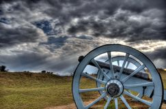 Cannone nel parco della forgia della valle Fotografia Stock