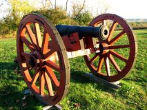 Cannone rivoluzionario di tempo di guerra Fotografia Stock Libera da Diritti