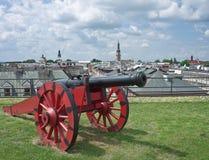 Cannone rosso Immagine Stock