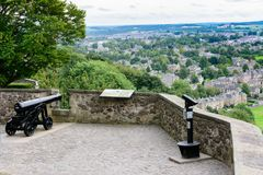 Cannone storico in Stirling Castle, Scozia Fotografie Stock Libere da Diritti