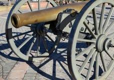 Cannone storico su esposizione in città, Denver Colorado Fotografia Stock Libera da Diritti