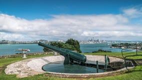 Cannone storico sulla riserva della testa di Nord Fotografie Stock