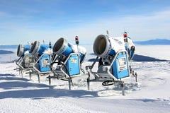 Cannoni della neve Fotografia Stock Libera da Diritti