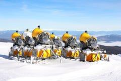 Cannoni della neve Immagini Stock
