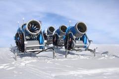 Cannoni della neve Fotografia Stock