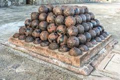Cannoni di Castillo de San Cristobal - San Juan, Porto Rico Fotografia Stock