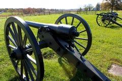 Cannoni di Gettysburg Fotografie Stock Libere da Diritti