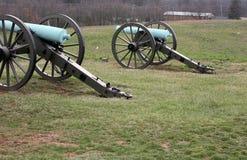 Cannoni a Gettysburg Fotografia Stock