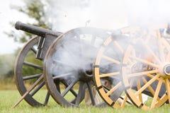 Cannoni inglesi di guerra civile Immagine Stock