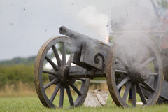 Cannoni inglesi di guerra civile Fotografie Stock