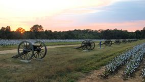 Cannoni nel parco della guerra civile Fotografia Stock
