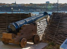Cannoni a Québec, Canada fotografie stock