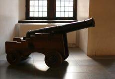 Cannonin克伦堡城堡 免版税库存图片