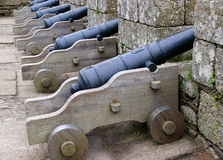 Cannons. Row of Cannons Royalty Free Stock Photography