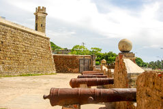 Cannons aim at open sea Royalty Free Stock Photography