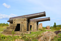Cannons in Aland Islands. Royalty Free Stock Image