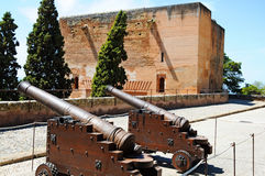 Cannons at Alhambra Royalty Free Stock Photo