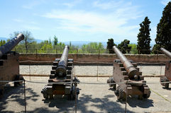 Cannons at Alhambra Stock Photo