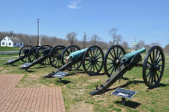 Cannons - Antietam National Battle Field Maryland Stock Photo
