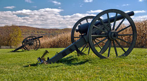 Free Cannons At Antietam National Battlefield Royalty Free Stock Image - 28114456