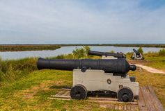 Cannons At Fortification Stock Image