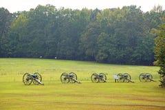 Cannons on battlefield of Shiloh fotografia de stock