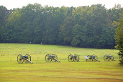 Cannons on battlefield of Shiloh Stock Photography