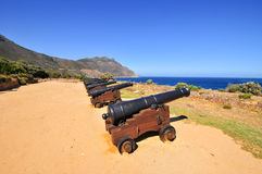 Cannons - Cape Town, South Africa Coast Royalty Free Stock Photo