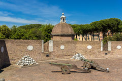 Cannons in Castel Sant'Angelo, Rome, Italy Stock Photography