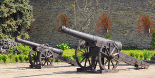 Cannons of the castle Royalty Free Stock Photos
